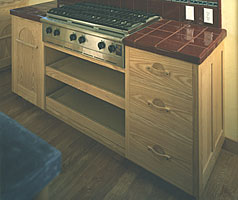 Arts and Crafts Cooktop Cabinet