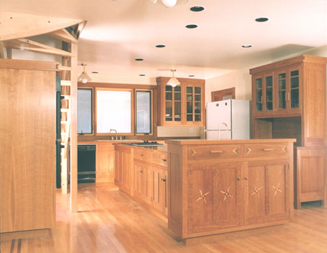 Cherry craftsman kitchen