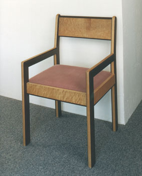 birdseye maple and purpleheart chair