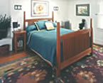 craftsman cherry bed and nightstand