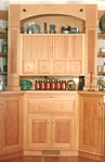 vertical grain fir hutch